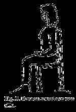 sentarse en silla