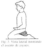 postura de rodillas